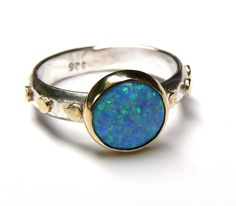 Hey, I found this really awesome Etsy listing at https://www.etsy.com/listing/253391442/blue-opal-ring14k-gold-ring-silver-ring