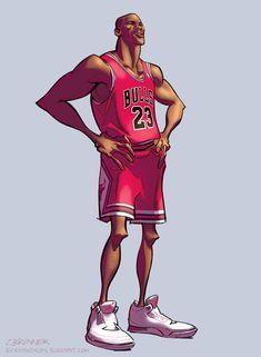 """""""Michael Jordan"""" - kickstandkid78, via Deviantart"""