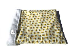 Bumble Bee Burrow Bag, Snuggle Sack, Guinea Pig Bed, Cat Bed Cave, Small Dachshund Bed, Pocket Bed, Weenie Dog, Pet Bed Warmer, Hedgehog Bed by ComfyPetPads on Etsy
