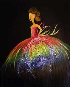 Be who you want to be not what others want to see 💃🏻❤️🌈 . Acrylic Paintings, Ball Gowns, Christmas Ornaments, Holiday Decor, Artist, Beautiful, Instagram, Fashion, Ballroom Gowns
