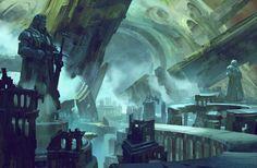 City. Art by Neal Hanson.