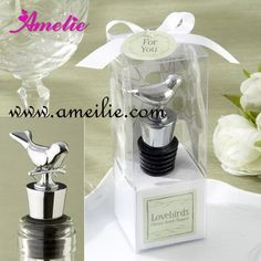 Aliexpress.com : Buy Wedding Favors Wedding Gifts Bird Design Wine Stoppers Wedding Souvenirs 50pcs/lot from Reliable wine stopper suppliers on Amelie Wedding Boutique Shop $119.99