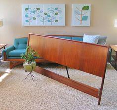 Diy Modern Headboard lane furniture mid century modern king size headboard bed vintage
