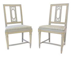Pair of Swedish Gustavian Chairs     V #: 508350  DEALER #: F-0686  chairs at vandm.com from scandiadecor.com