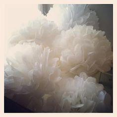 handmade tissue flowers
