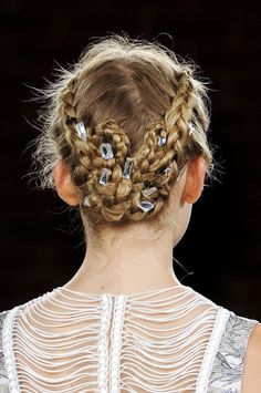 such pretty plaits at HONOR new york spring/summer 2013