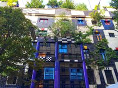 KunstHausWien, a house turned museum in Vienna, was designed by artist and architect Friedensreich Hundertwasser.