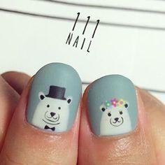 #nailart #bear #cute
