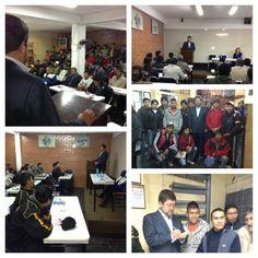 Conversando de industrialización con jóvenes del Instituto Automotriz en la zona de San Pedro de la ciudad de La Paz.