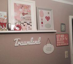 Wand/Kinderzimmer/Mädchen/rosa/Traumland/Prinzessin/Inspiration