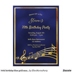 Shop birthday purple gold music notes invitation created by EllenMariesParty. 60th Birthday Party Invitations, 90th Birthday Parties, Gold Birthday Party, Birthday Ideas, Music Notes, Purple Gold, Divider, Letters, Templates