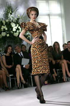 Dior leopard dress