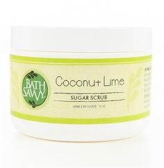 Coconut Lime Sugar Scrub Love the tropics? You cant get much more tropical than cane sugar coconut and lime! Youll love this natural Sugar Body Scrub for the way it exfoliates layers of dead skin while leaving you moisturized and protected throughout your day. Relax and rejuvenate island style with minimum fuss and maximum luxury!  Sweet perks of our natural sugar scrub: The rich shea butter base is full of vitamins A E and F and essential fatty acids. An infusion of olive oil adds…