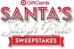Target: Santa's Sleigh RideSweeps - #target #sweepstakes