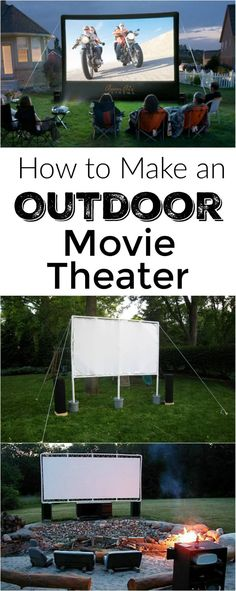 How to make an outdoor movie theater and the BEST movies to watch this summer outside!
