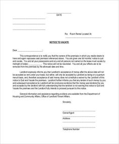 Image Result For Printable Eviction Notice Form  Around The House