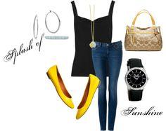 """Splash of Sunshine"" by fashionista-222-jlm on Polyvore"