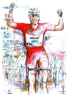 Marcel Kittels wins stage 2 & 3 Giro d'Italia 2016 by Horst Brozy Cycling Art, Cycling Bikes, Marcel Kittel, Bicycle Art, Bike Design, Painting & Drawing, Spin, Photo Art, Illustration Art