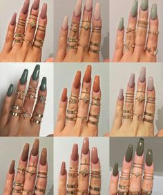 """If you're unfamiliar with nail trends and you hear the words """"coffin nails,"""" what comes to mind? It's not nails with coffins drawn on them. It's long nails with a square tip, and the look has. Gorgeous Nails, Pretty Nails, Cute Nails For Fall, Nail Ideas For Fall, Simple Fall Nails, Hair And Nails, My Nails, Long Nails, Long Press On Nails"""