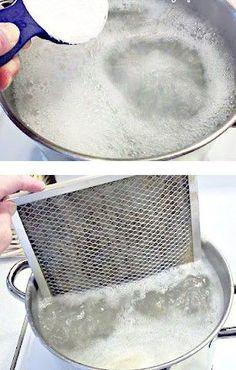 Tip para limpiar el extractor de humos de la cocina... #compartirvideos #consejosdelhogar #trucoshogar