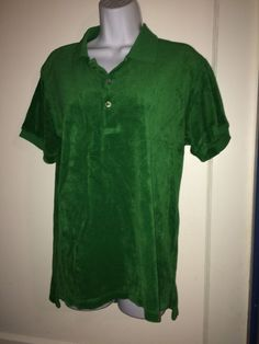 Juicy Couture Top Shirt Kelly Green Fab Sz Med #JuicyCouture #PoloShirt #Casual