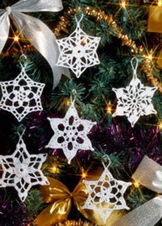 the snowflake is one of natures best decorating ideas and crochet christmas ornaments are so much fun to make around the holidays so why not combine the
