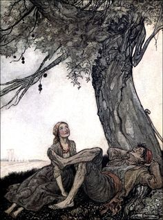 Art by Arthur Rackham (1912) from the book, AESOP'S FABLES.