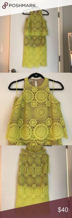 Crop Top and Midi Skirt Set Yellow Crochet Crop Top and Midi Skirt set Dresses Midi