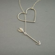 Heart and Arrow Necklace by bbel on Etsy, $55.00            luv it!