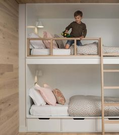 Youngsters Bedroom Furnishings – Bunk Beds for Kids Girls Bunk Beds, Bunk Bed Rooms, Bunk Beds Built In, Modern Bunk Beds, Bunk Beds With Stairs, Kid Beds, Built In Beds For Kids, Bunk Bed Ideas For Small Rooms, Small Bunk Beds