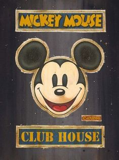 Disney Fine Art - Mickey Mouse Club House Lot 3. Biggs Ltd. Gallery. Heirloom quality bridal, art, baby gifts and home decor. 1-800-362-0677. $1,195.