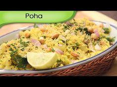 Poha - Cooked Flattened Rice - Indian Breakfast Recipe by Ruchi Bharani - Vegetarian [HD] - YouTube