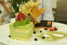 Matcha cheese cake mềm mịn độc đáo từ Hội Đầu Bếp Á Âu