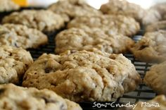 Cookies with ingredients that help boost breastmilk production. They're yummy!