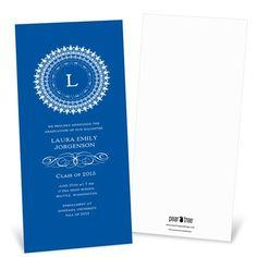 Graduation Invitation -- Traditional Emblem