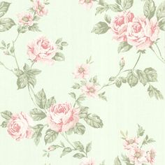 302-66874 Mint Floral Trail - Bloom - Beacon House Wallpaper