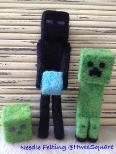 Minecraft Slime, Enderman and Creeper