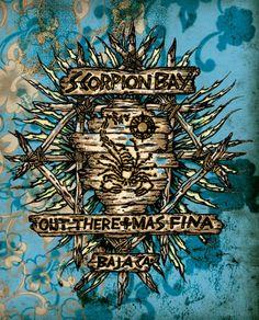 #ScorpionBay #Logo #OutThereMasFina #BajaCalifornia #Mexico