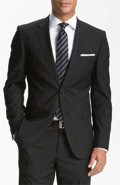 BOSS Black 'Jam/Sharp' Trim Fit Wool Suit
