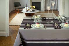 Nappe coton Jean-Vier Donostia Orage - Cotton tablecloth Jean-Vier Donostia Orage  >> http://www.jean-vier.com/