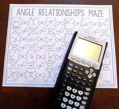 This angle relationships maze would be the perfect activity for my math students to practice working with complementary, supplementary, and vertical angles! They love worksheets like this.