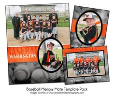 BASEBALL PACK F - Memory Mate Sports Photo Templates - Digital Files Only