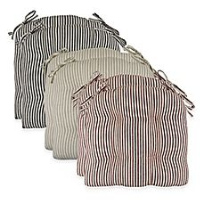 image of Park B. Smith® Farmhouse Stripe 16-Inch Chair Pads (Set of 2)
