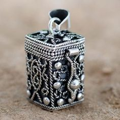 Square Locket Pendant Artisan Crafted Silver Jewelry - Prayer Box | NOVICA
