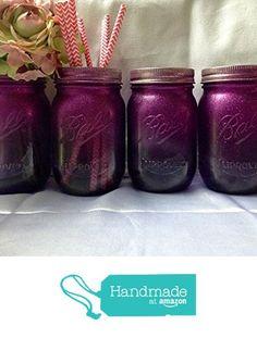 Set of 4 Purple Glitter Painted Mason Jars Centerpieces, Unicorn Birthday Party Supplies, Mermaid Decorations from A Simple Little Something https://www.amazon.com/dp/B074MLV4VB/ref=hnd_sw_r_pi_dp_dZqIzbKFFKYAQ #handmadeatamazon