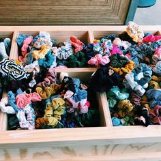 Scrunchies and hair ties in drawer stacker with jewelry and sunglasses Scrunchies, Summer Aesthetic, Soft Grunge, Retro, Hair Ties, Girly Things, Summer Vibes, Cute Pictures, Beach Pictures
