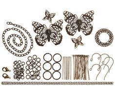 Vintaj Filigree Butterfly 109 Piece Component Kit