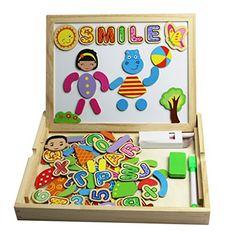 Magnetisches Spielzeug Magnet Doodle aus Holz Zeichnung Maltafel f�r Kinder ab 3 Jahren (Style B)