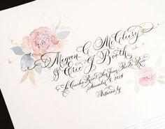 Delicate calligraphy and dreamy Watercolors #e.Danae