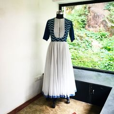 New Dress Long Casual Blazers Ideas Cotton Anarkali Dress, Designer Anarkali Dresses, Designer Dresses, Choli Dress, Gown Dress, Kurta Designs Women, Blouse Designs, Dress Designs, Stylish Dresses